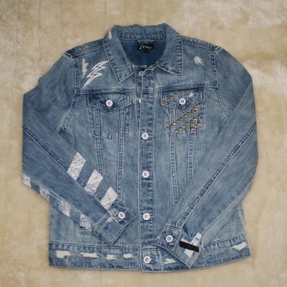 e784108ab1c5 Art Class Jackets & Coats   Boys Giels Unisex Distressed Jean Jacket ...